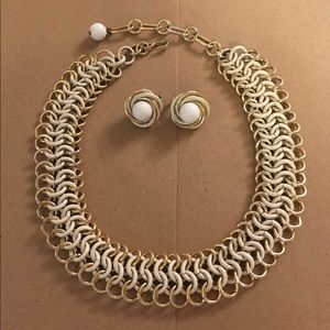 Vintage Necklace and Trifari Earings Set